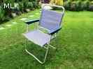 Összecsukható kempingszék, napozószék, kerti szék könnyű alu